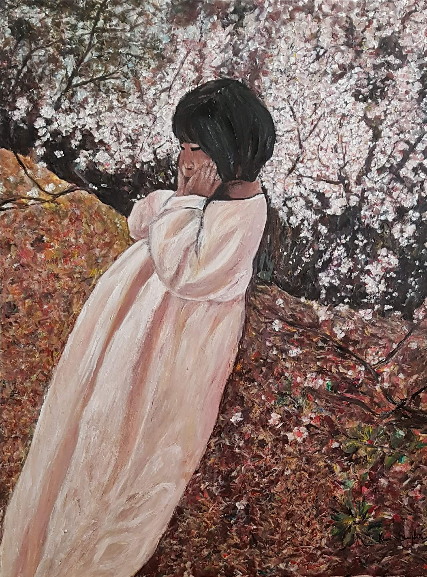 La petite fille au printemps The little girl in Spring 60x70 2018