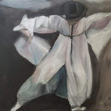 The dancer – acrylic, 70×50 cm (2020)