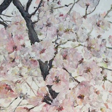 The Cherry Blossoms of Busan – acrylic, 40×30 cm (2014)