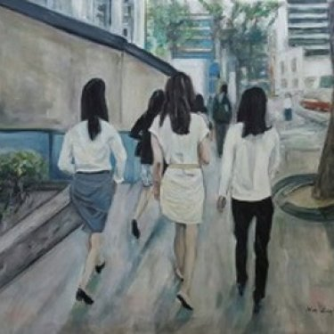 In the streets of Seoul – acrylic, 80×60 cm (2015)