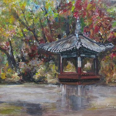 Secret garden in Autumn – acrylic, 40×30 cm (2014)