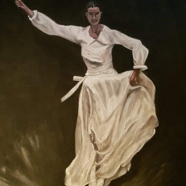 The dancer – acrylic, 45×55 cm (2019)
