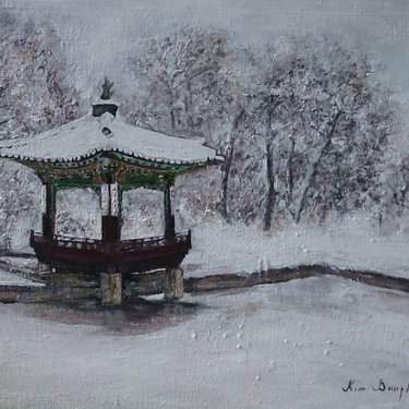 Secret garden in Winter – acrylic, 30×25 cm (2014)