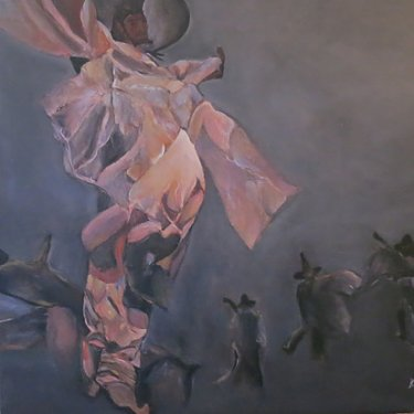 The dancersi – acrylic, 80×70 cm (2014)
