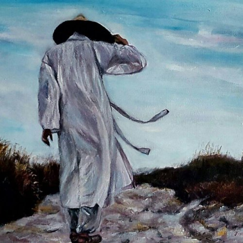 The monk in the wind – acrylic, 50×40 cm (2015)