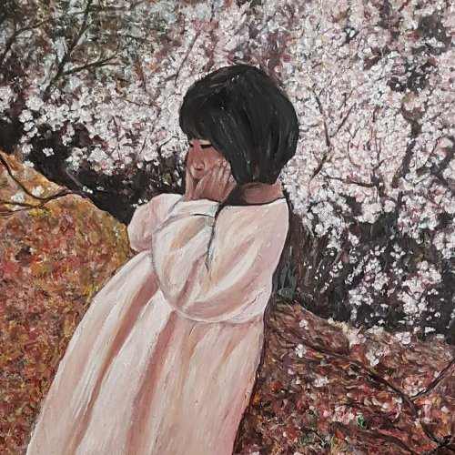 The little girl in Spring 60×70 2018