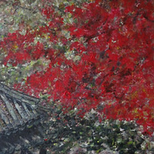 Changdeokgung Palace at Seoul – acrylic, 40×80 cm (2014)