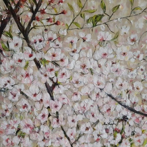 The Cherry Blossoms, acrylic, 50×50 cm (2019)