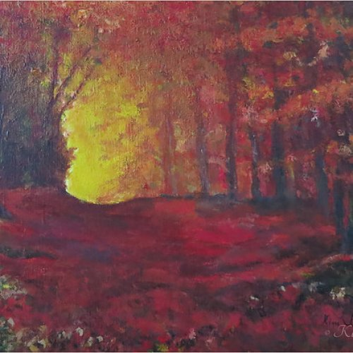 The red forest – acrylic, 50×45 cm (2013)