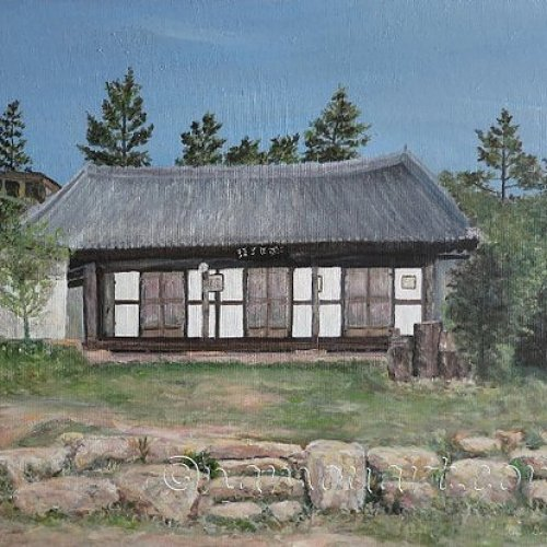 The house of Haenam – acrylic, 60×50 cm (2012)