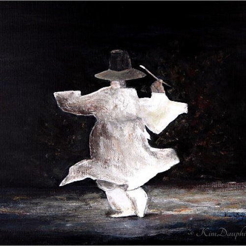 The dancer – acrylic, 50×45 cm (2013)