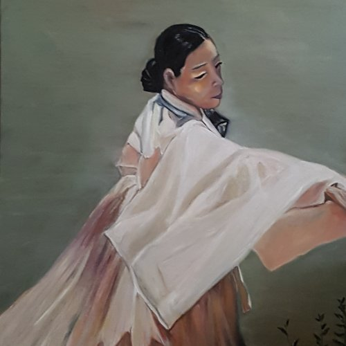 The dancer in the wind – oil, 60×80 cm (2017)