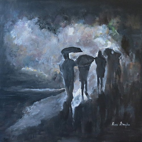 Under the rain … – acrylic, 50×50 cm (2014)
