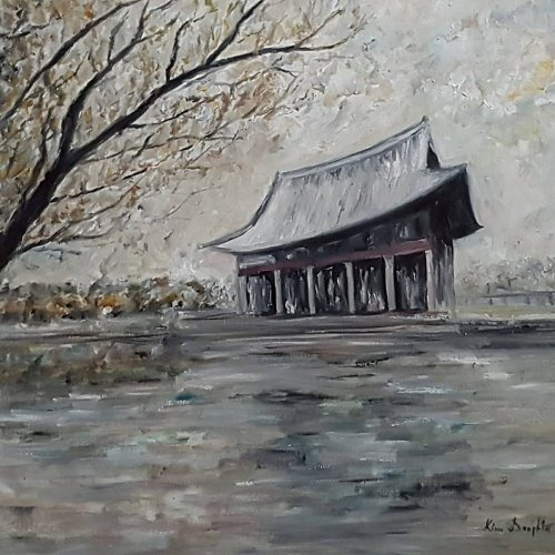 111 Seoul in winter, acrylic, 50×50 cm (2018)