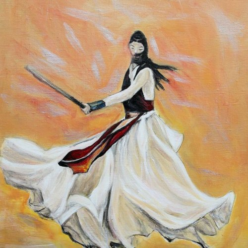 The Warrior – acrylic, 50×60 cm (2016)
