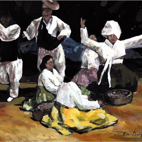 The dancers – acrylic, 50×45 cm (2013)