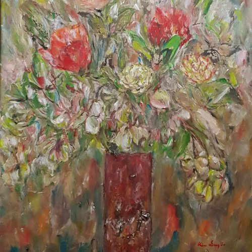 The bouquet, acrylique, 37×47 cm (2019)