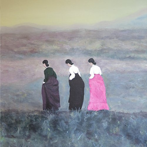 The three women in Hanbok – acrylic, 40×50 cm (2012)