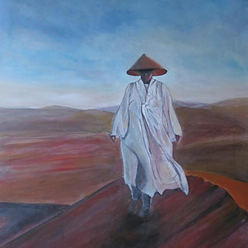 The Monk in the Desert – acrylic, 70×90 cm (2015)