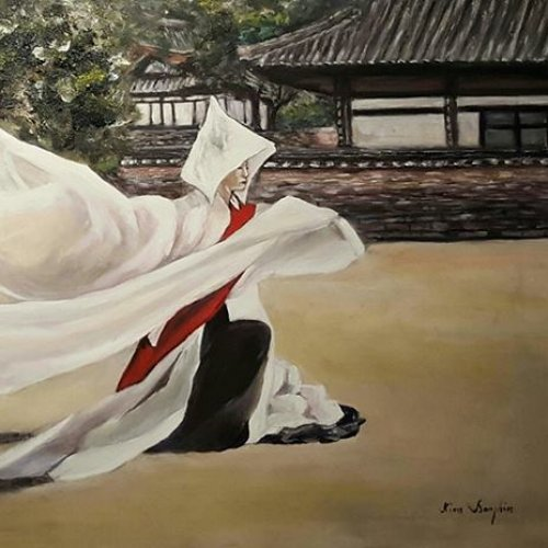 The Buddhist dance – acrylic, 100×50 cm (2015)