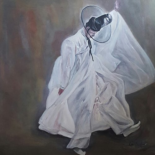 The dancer – acrylic, 70×70 cm (2016)